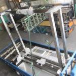 ヘアライン 架台製作 大型製缶 酸洗い 洗浄機架台