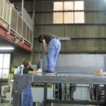 米 ホッパー架台 大型製缶 製缶製作