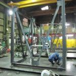 スチール架台 大型製缶 製作